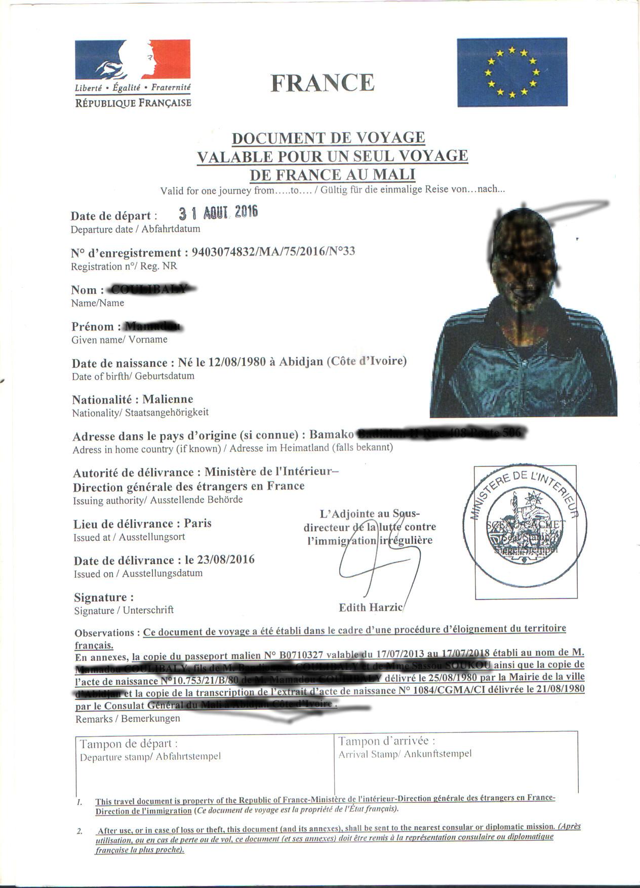 Plan D Une Case Africaine le mali refuse le paissez-passer européen et appele les